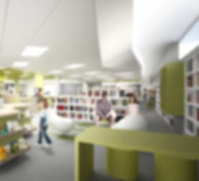 Coarchitecture-Tournesol-Lac-Saint-Charles-Bibliotheque-québec-coarchitecture