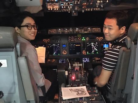 Boeing B-737 NG South Korean Students