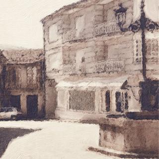 Plaza del pueblo de Cortegada