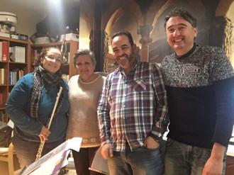 Con Montse y familia Pardo