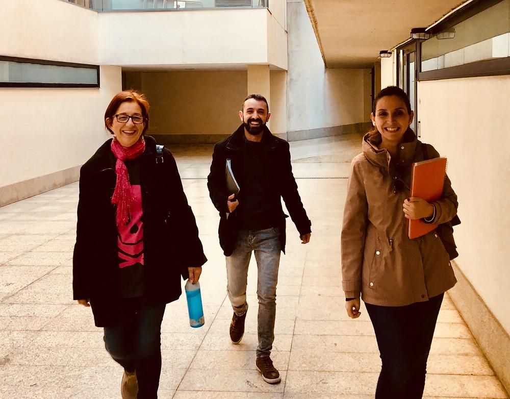 Con Maite, Álvaro y Gema