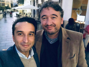 Con Ricardo Cabezas, amigo, compañero y hermano