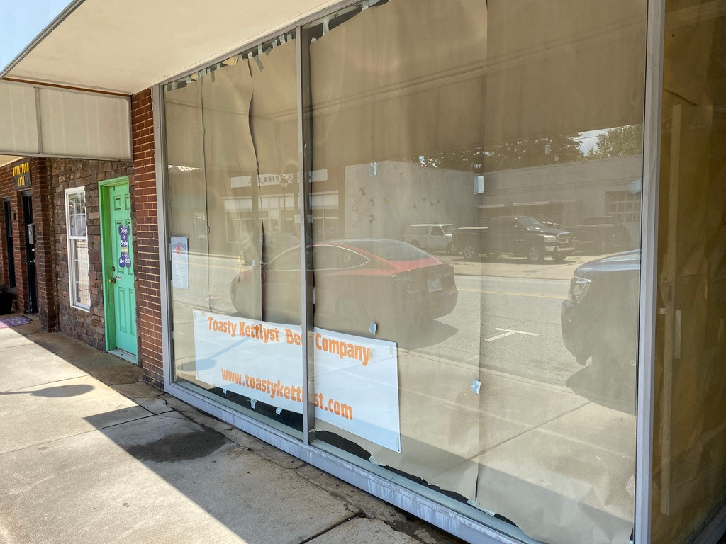 Store front glass prep