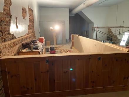 Front bar build in progress