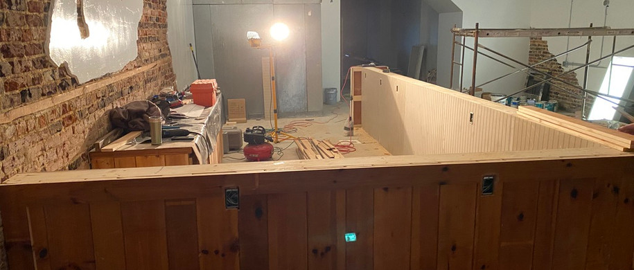 Front bar being built