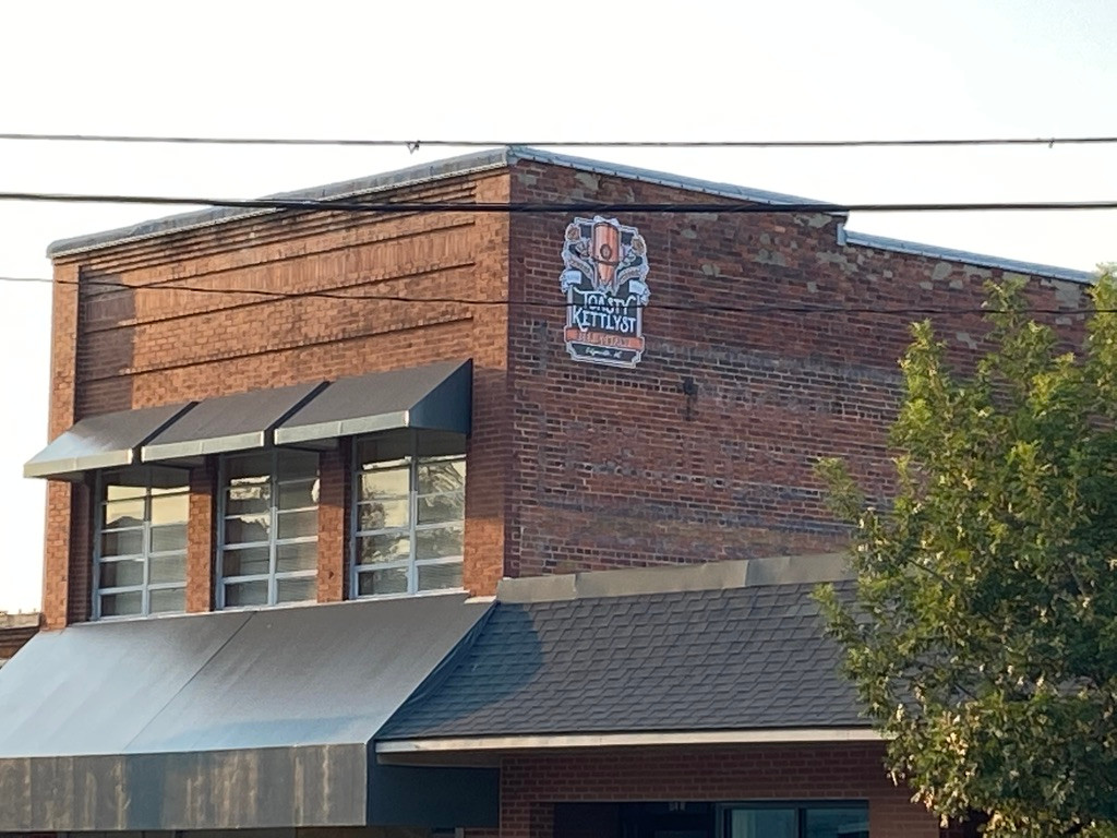 Logo view from Lewis Street
