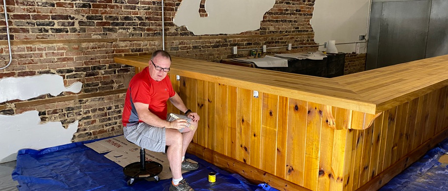 Staining the bar