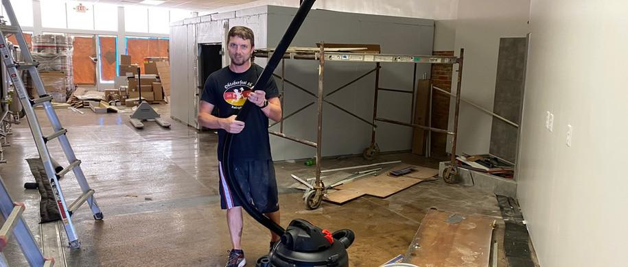 A lot of vacuuming