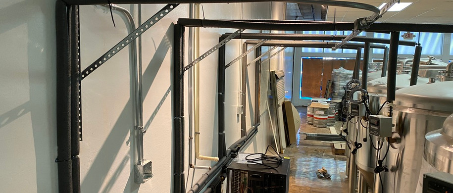 Insulated glycol lines