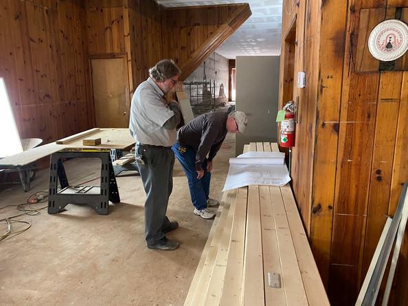 Reveiw of plans for bar build