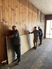 Moving sheetrock