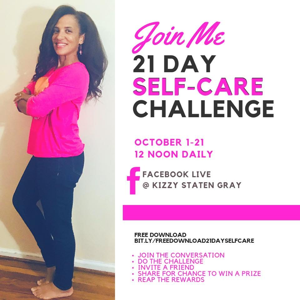 Kizzy Staten Gray Self-Care challenge
