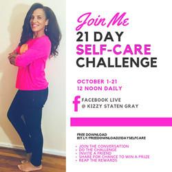 Kizzy Staten Gray Self-Care challenge