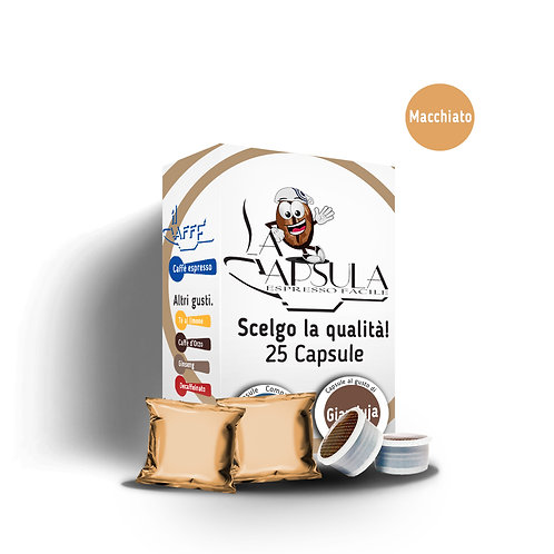 CAPSULE AL GUSTO CAFFÈ MACCHIATO - 50pz