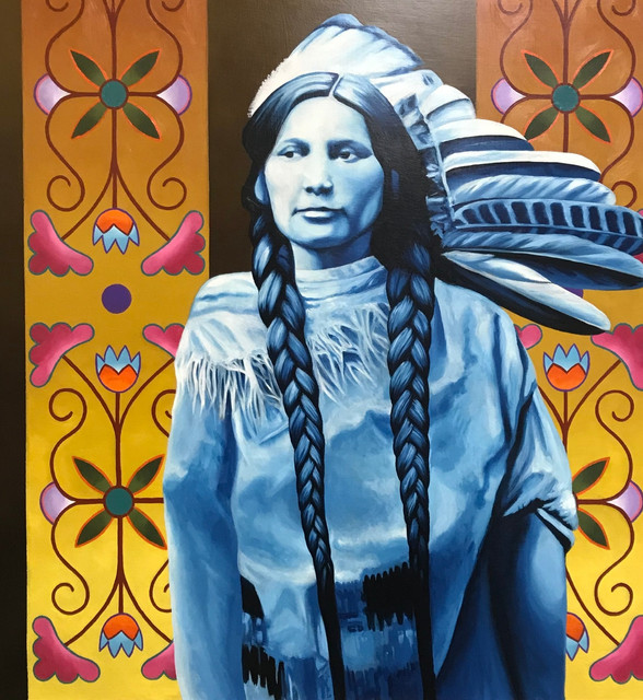 Painting of Agnes Topash by artist David Martin