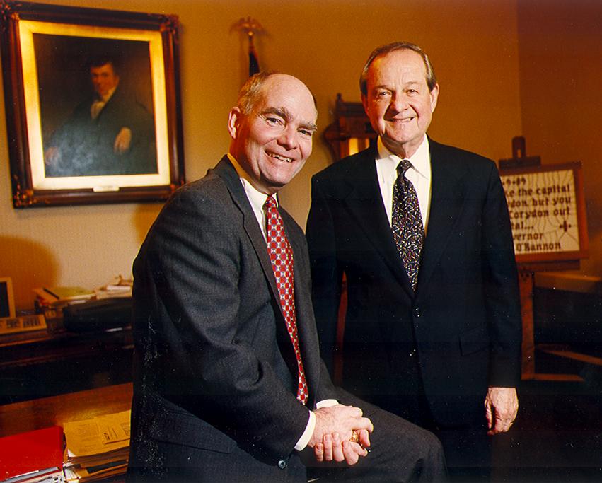 Lt. Governor Joe Kernan and Governor Frank O'Bannon