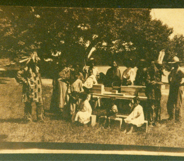 A group of Potawatomi citizens, circa early 1900s in southwest Michigan