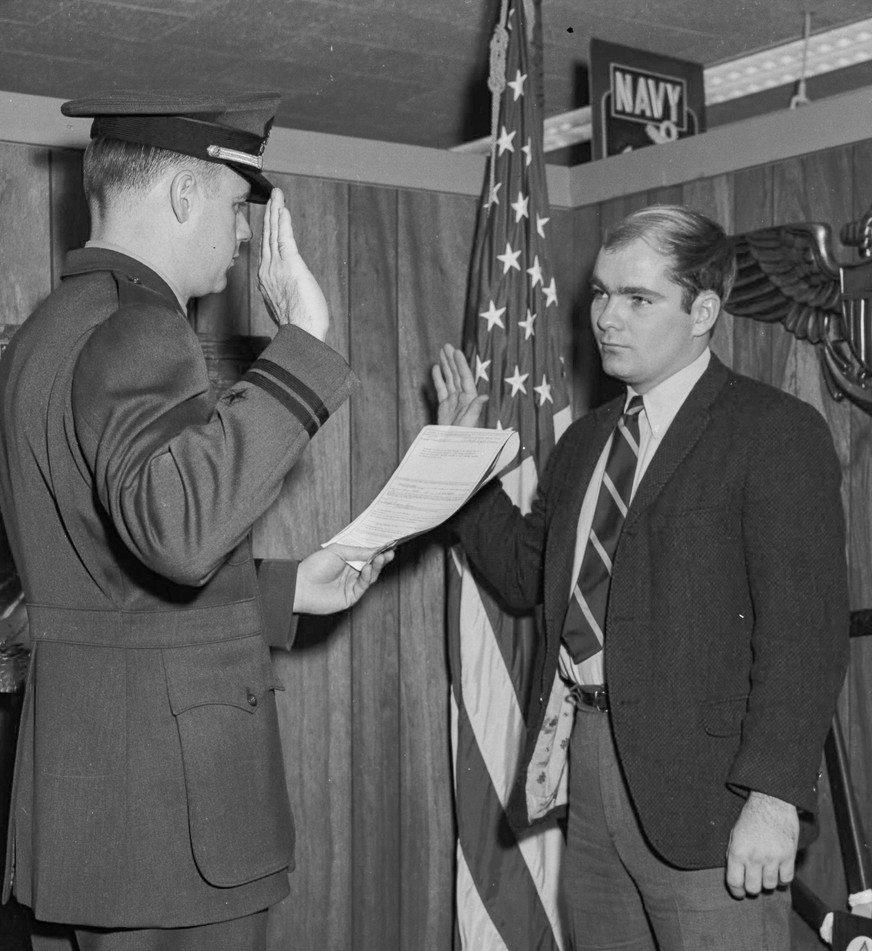 Induction into the Navy, 1972