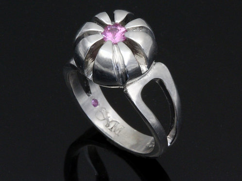 Modern Pink Sapphire Ring