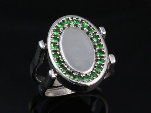 Reversible Diamond and Tsavorite Ring