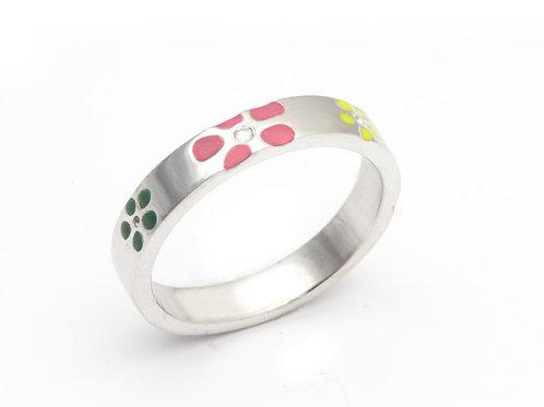 Flower Diamond Stacking Ring