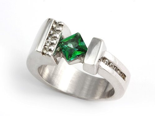 Princess Rainforest Topaz Ring