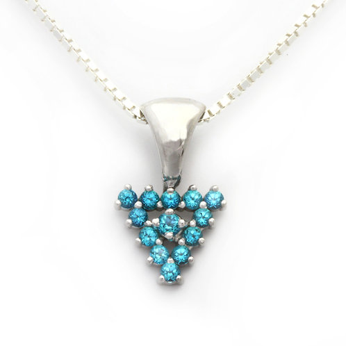 Blue Topaz Triangle Pendant