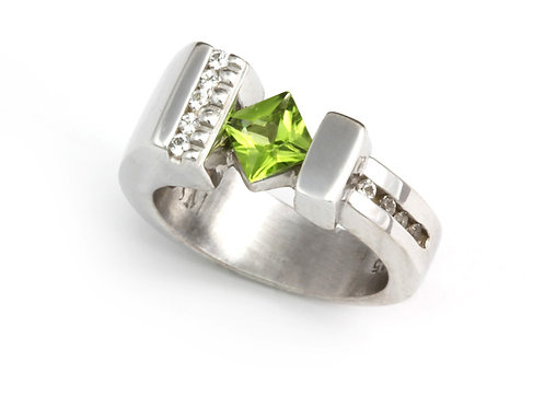 Princess Peridot Ring