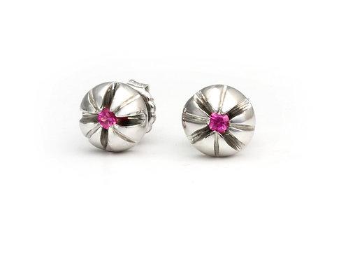 Modern Pink Sapphire Earrings