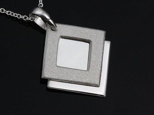 Textured Double Diamond Pendant