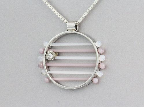 Rolling Diamond Glass Pendant