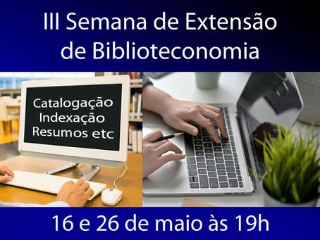 III Semana de Extensão de Biblioteconomia