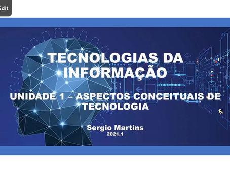 Prévia de uma aula online de Tecnologias da Informação