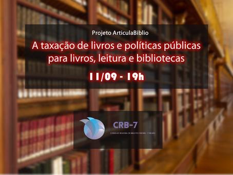 Live sobre a taxação de livros e políticas públicas