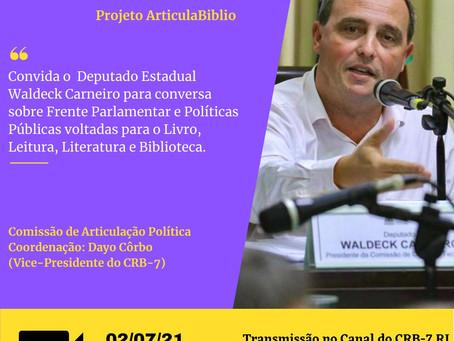 Live sobre políticas públicas voltadas para o livro, leitura e biblioteca