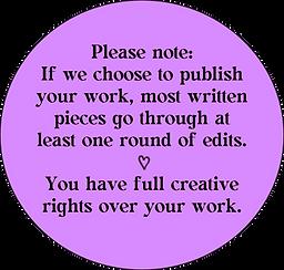 creative disclaimer