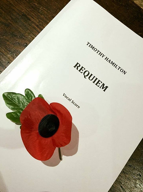 Timothy Hamilton Requiem: Vocal Score (Hard Copy)