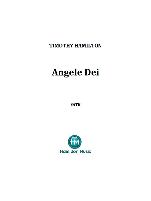 Angele Dei (Multiple Licence Copy)  Copies required: 2-10