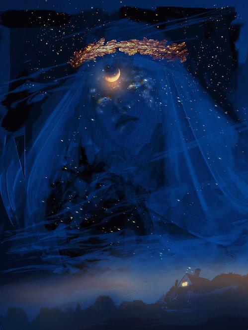 The Night- Print on canvas - digital art by D. Zawadzka