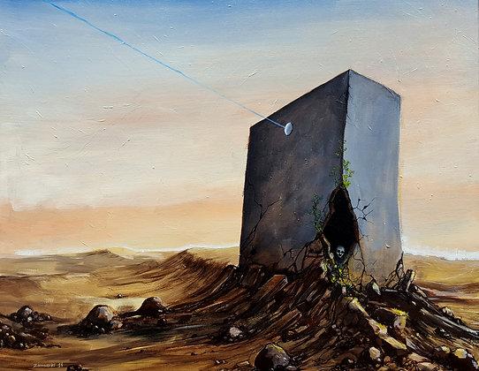 'Lost connection'- Painting on canvas, original acrylic artwork, landscape