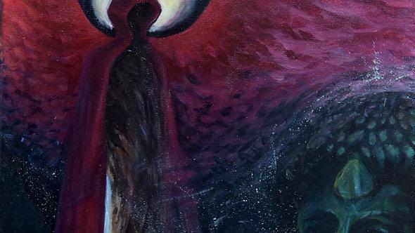 Painting on canvas, original acrylic artwork, surreal