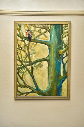 Painting on board, original acrylic fine art, big panting, hand-made artwork