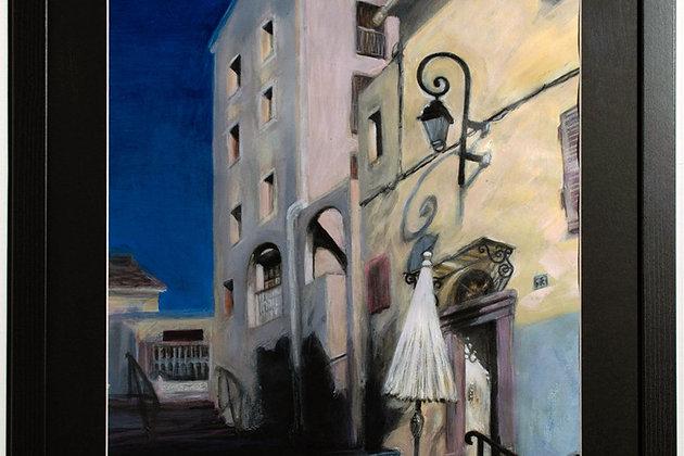 SALE! Painting, vivid colours, architecture, original artwork