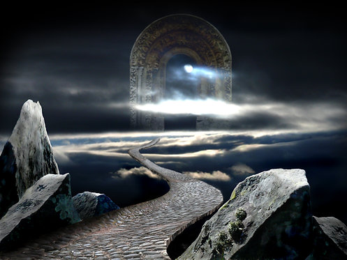 Heavenly gate - digital artwork, high quality photographic print, skyscape