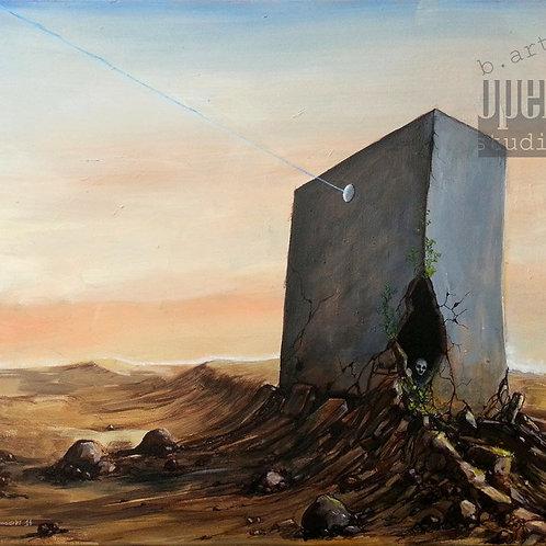 Painting on canvas, original acrylic artwork, landscape