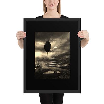 Digital artwork -Print on high quality paper, mounted in the black matte frame