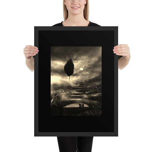 Digital artwork -Print on high quality paper, mounted in the black matte frame