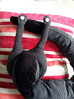 Hand-sewn black snail-draft-stopper * Ślimak, ręcznie szyty pogromca przeciągu
