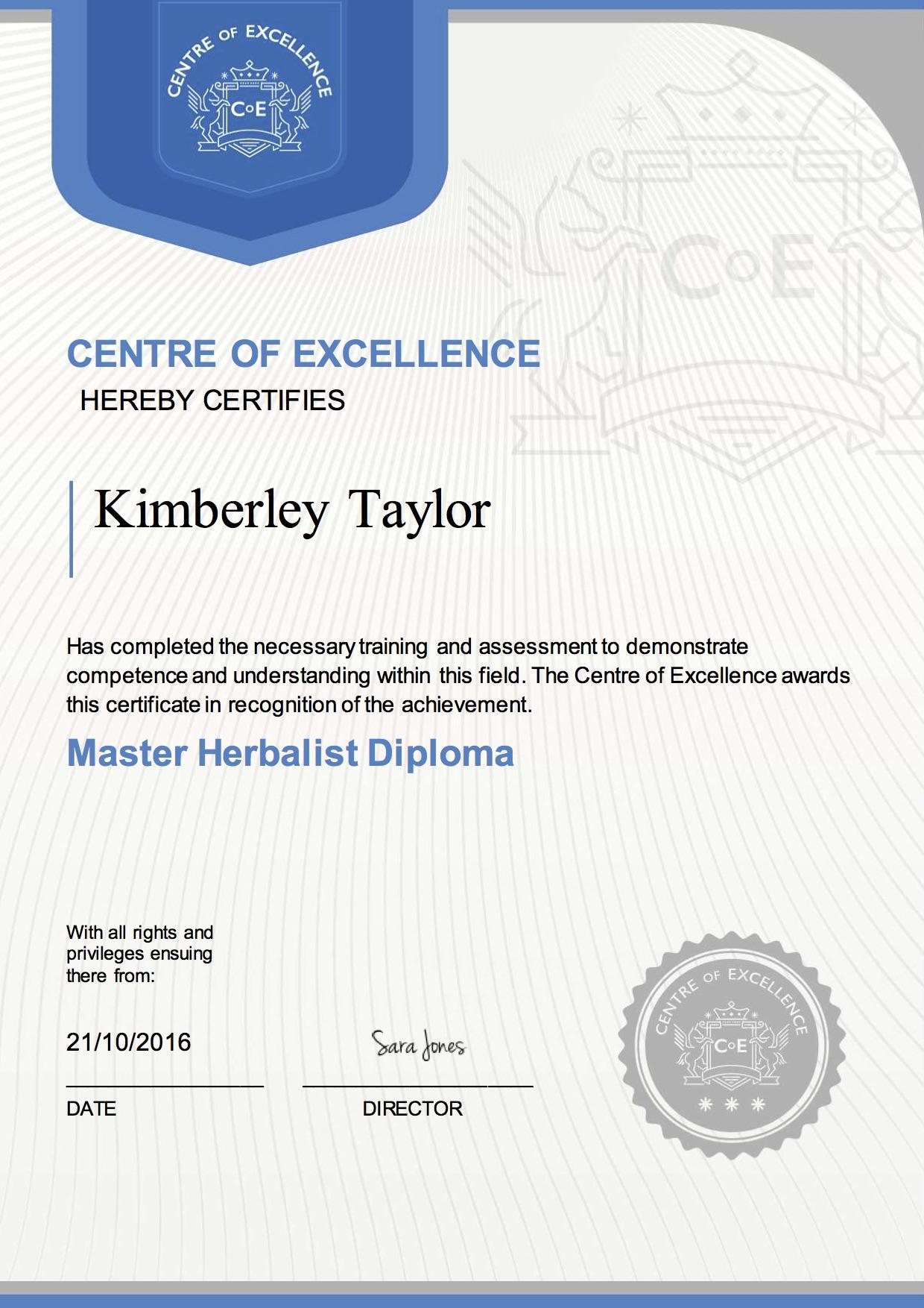 Master_Herbalist_Diploma_Kimberley_Taylor