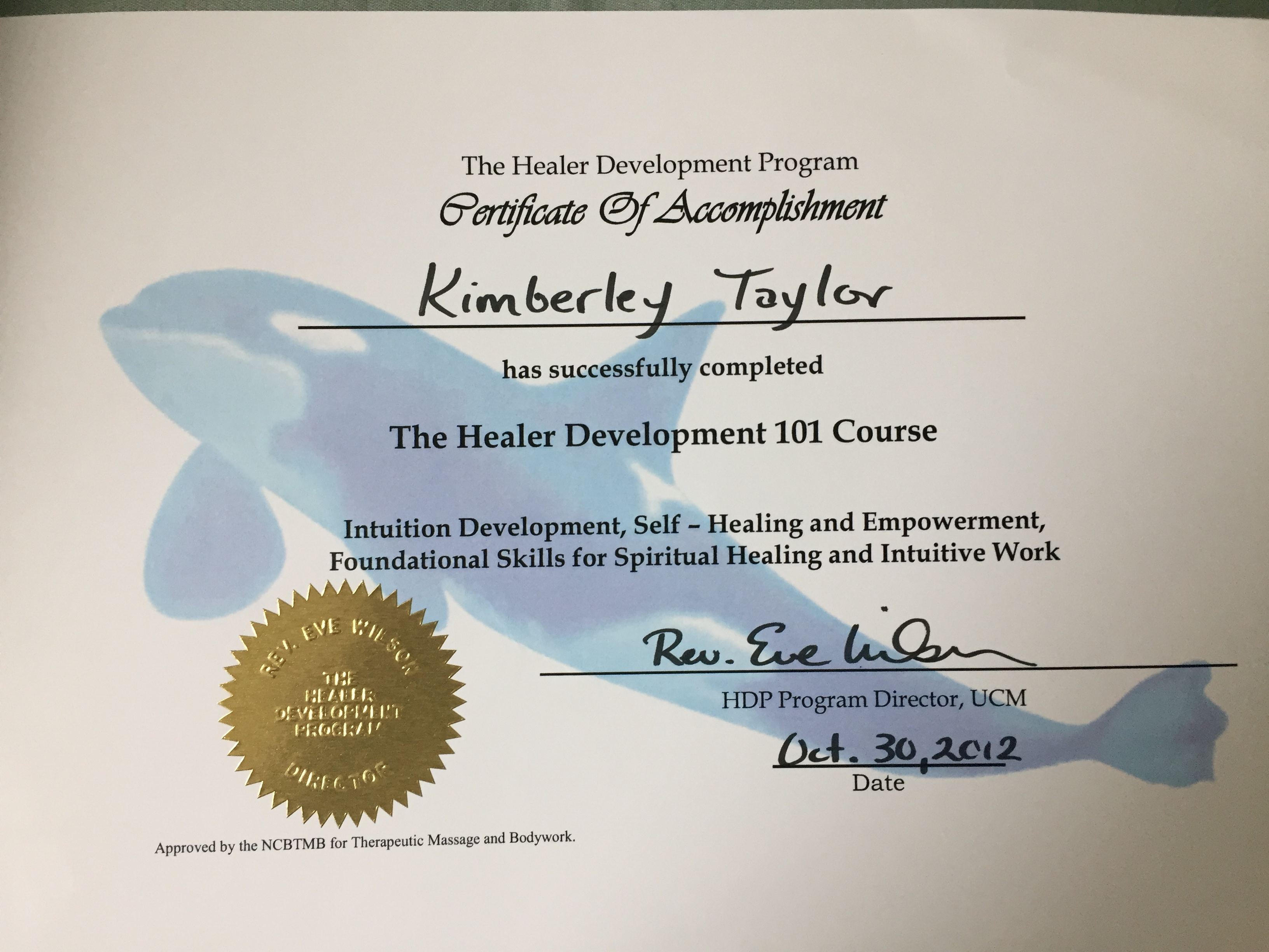 Healer Development 101 Course